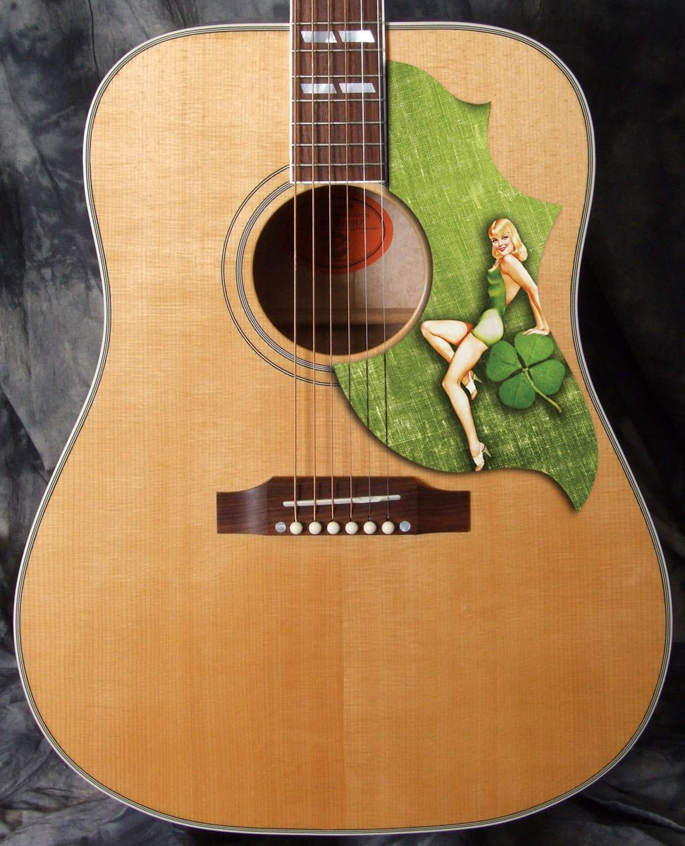 Hummingbird Style Acoustic Pickguard Adding A Little Luck This Friday The 13th Www Acousticpickguards Com Gibson Guitars Pickguard Guitar