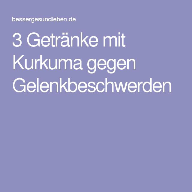 3 Getränke mit Kurkuma gegen Gelenkbeschwerden