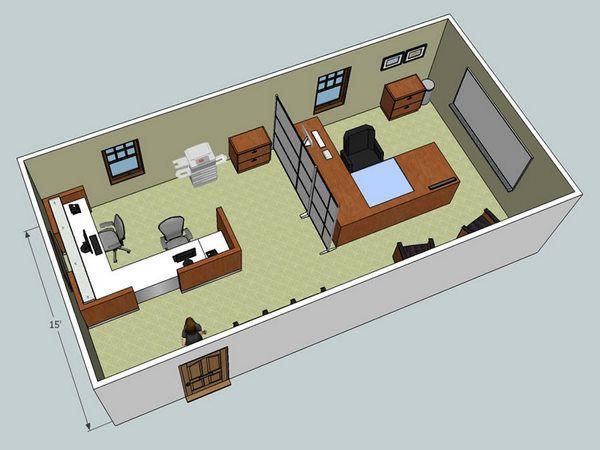 Small Office Es Interior Layout Design E Coordination