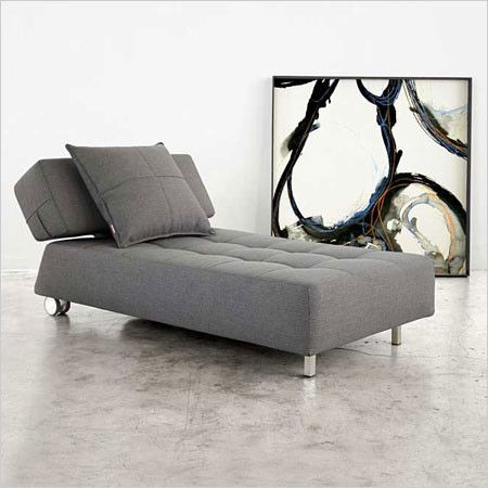Longhorn - Sleeper Chaise in black eco-leather 1348 $ : chaise sleeper - Sectionals, Sofas & Couches