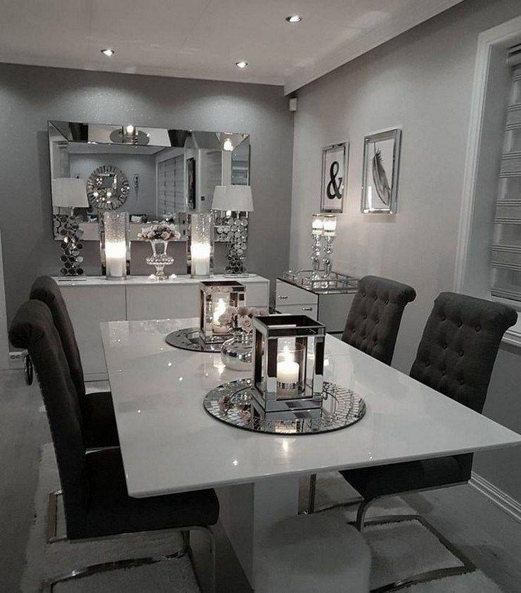 45 Best Dining Room Wall Decor Ideas 21, Silver Dining Room Wall Decor