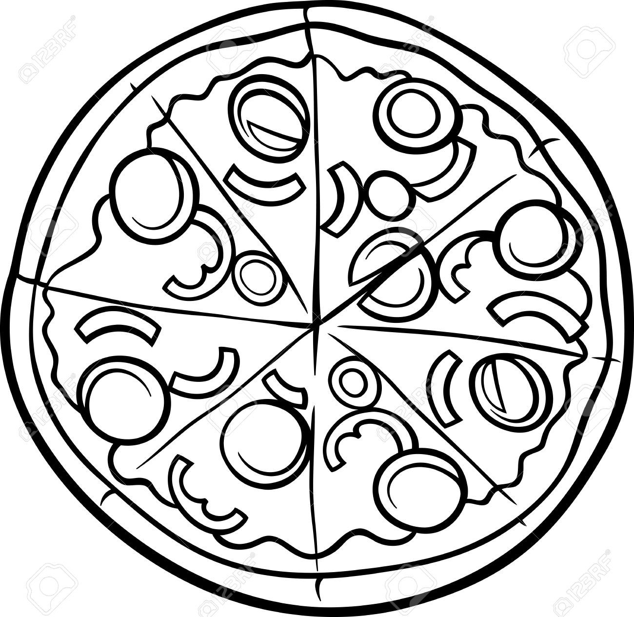 Free Clip Art Of Pizza Clipart Black And White 453 Best