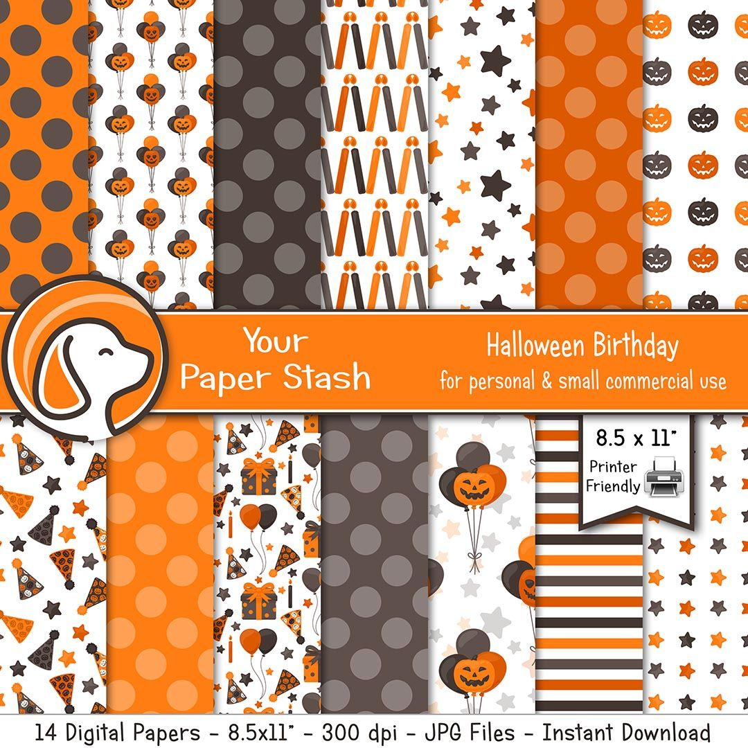 Pumpkin 8.5x11 Coordinating Paper Pack