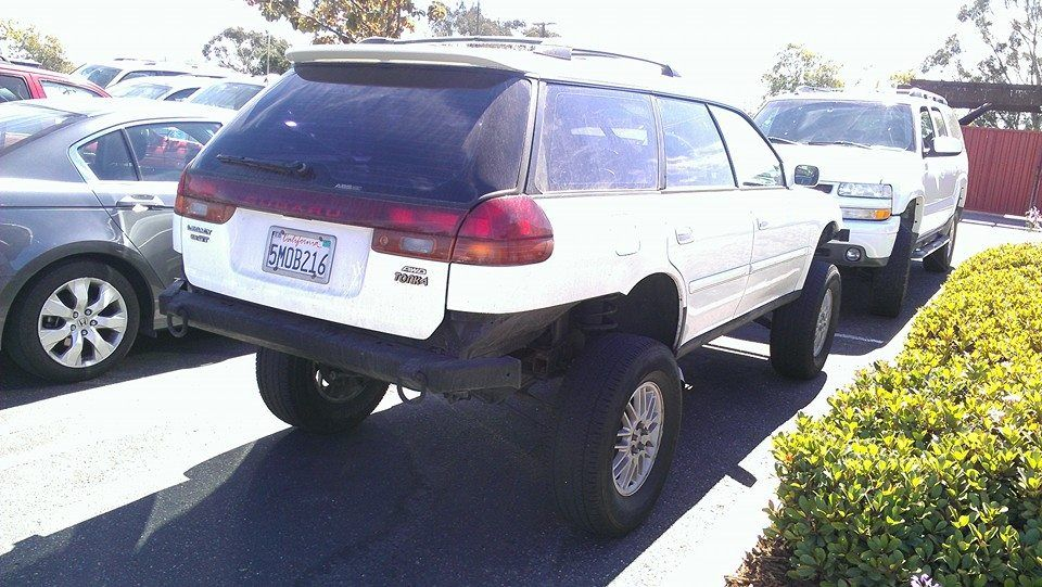 "lifted 1999 Subaru Legacy GT ""It has Outback struts"