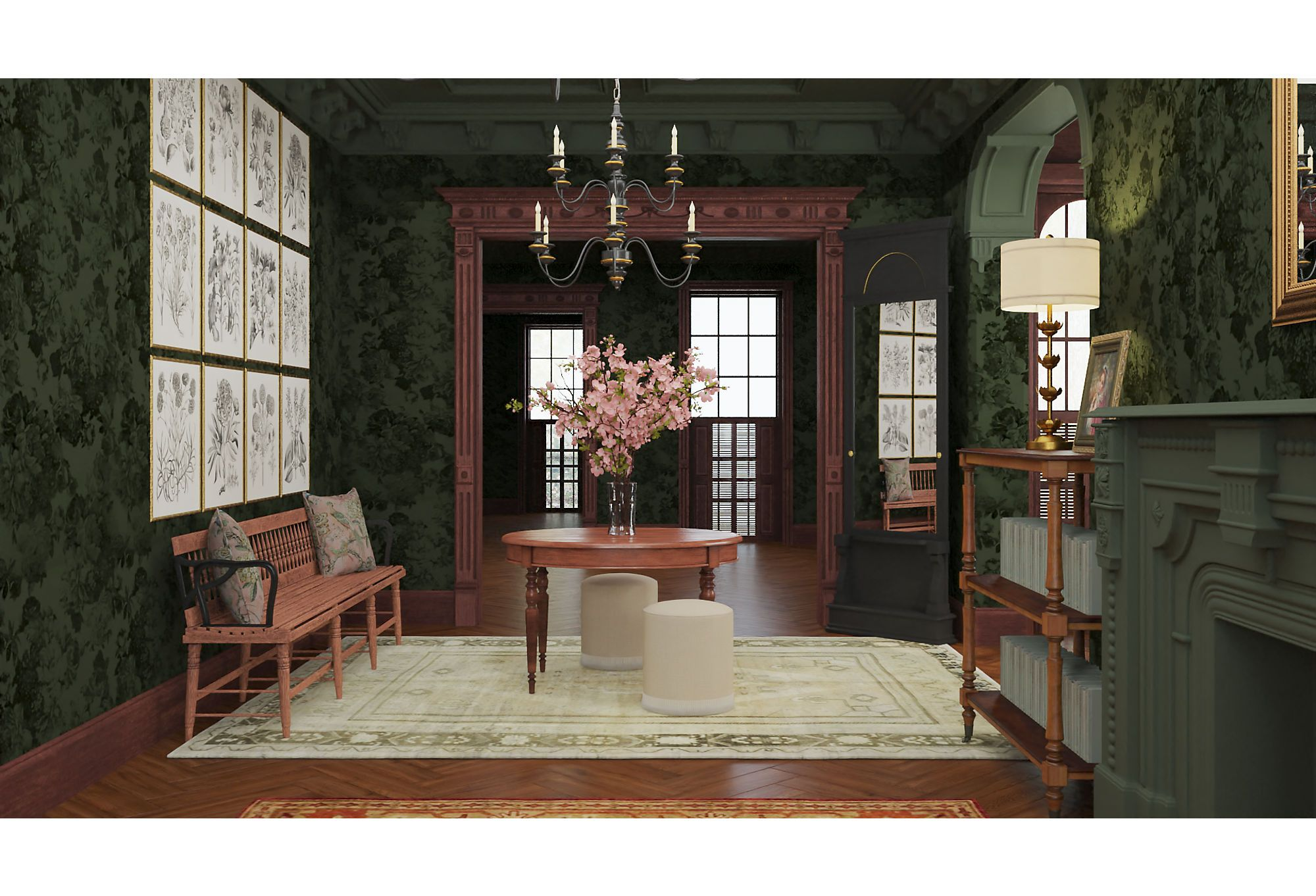 The Orchard House Of Little Women Reimagined House Home Modern Ottoman