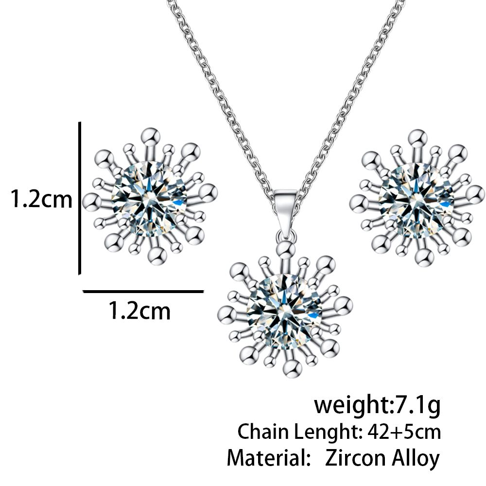 Hot sale austrian crystal jewelry sets goldsilver snowflake noble