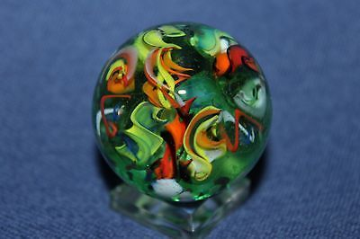 Steve Davis Marbles 1 1 2 Twisty Treat 1 1 2 Marble 080 Crystal Paperweight Marble Art Glass Marbles