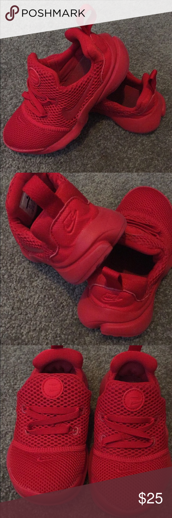 Toddler Red Nike These toddler Nike are