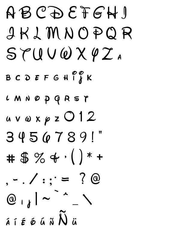 Tipografia Da Disney Tipos De Letras Abecedario Felicidades Letra Tipos De Letras
