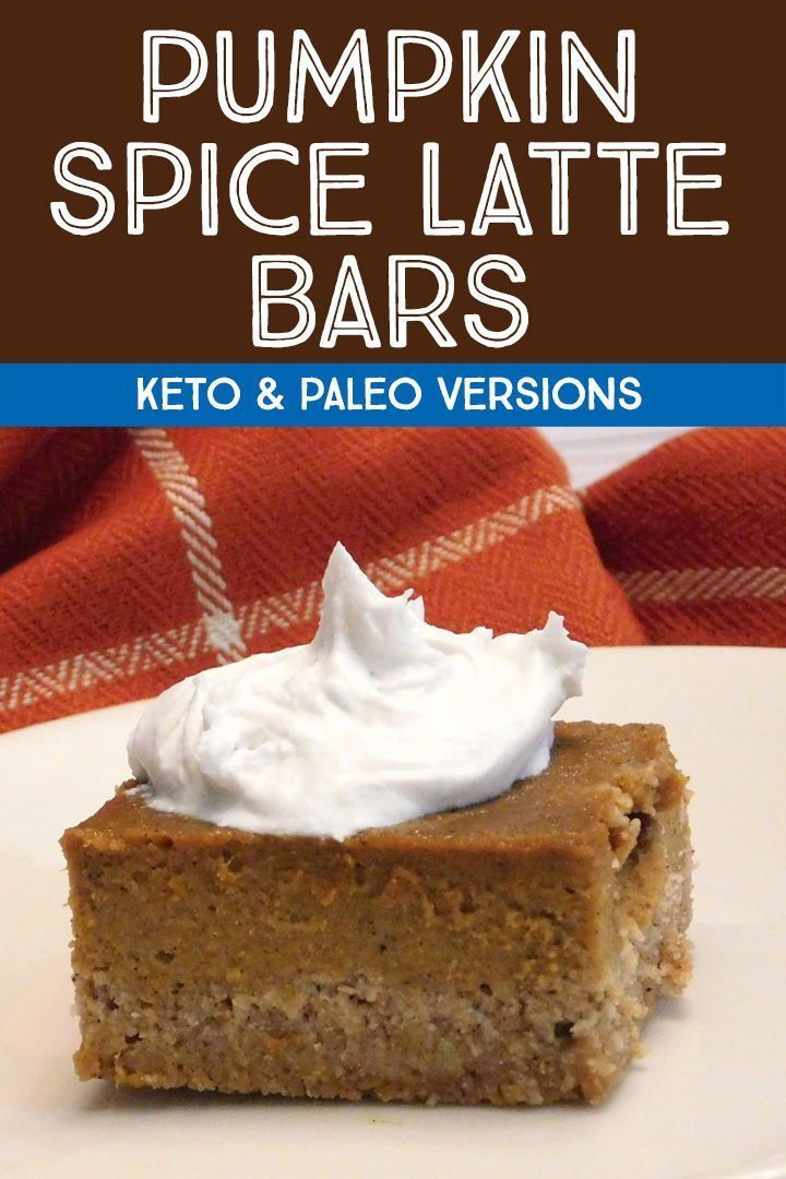 Your favorite fall beverage is now a sugar free dessert! These keto pumpkin spice latte bars can als #pumpkinspiceketocoffee