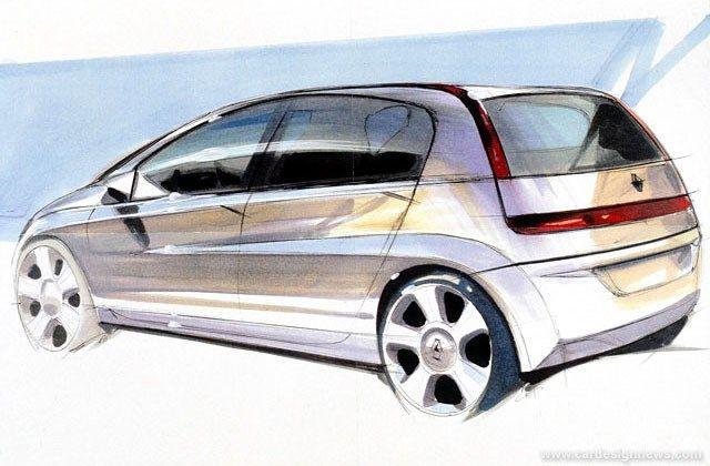 OG | 2002 Renault Megane MK2 | Design sketch