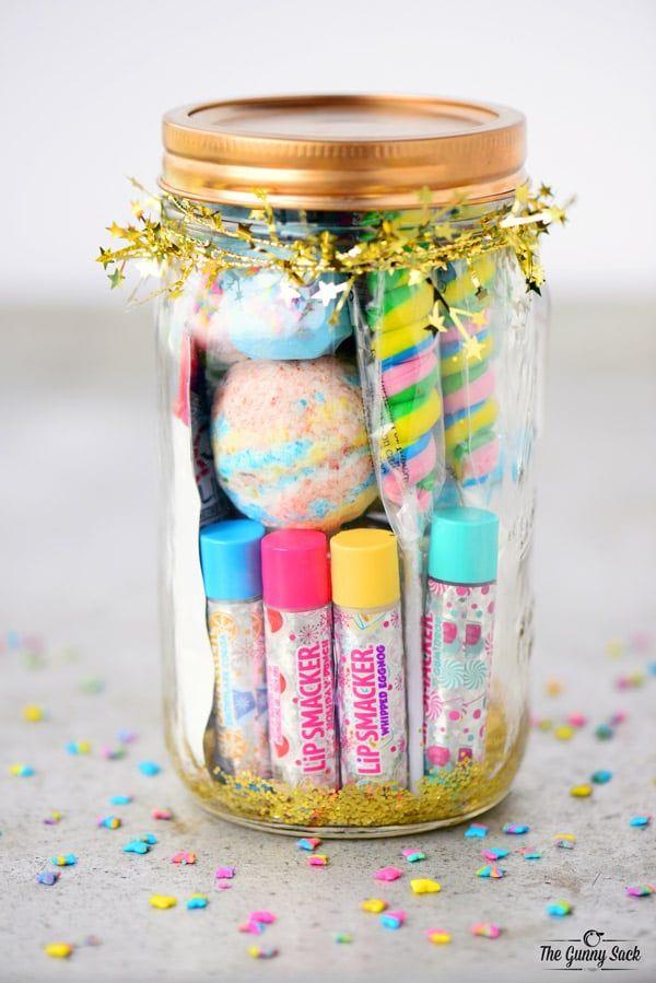 Rainbow Spa Jar Mason Jar Christmas Gifts Spa Party Favors Jar Gifts
