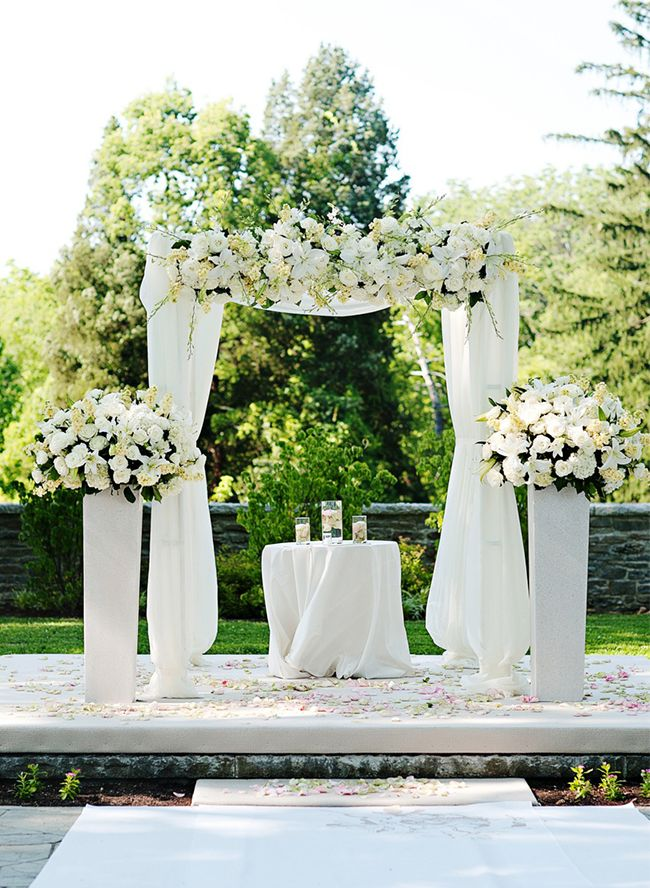 16 All White Wedding Ideas Weddings Wedding and Arch