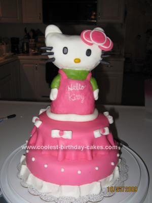 Coolest Homemade Hello Kitty Birthday Cake Hello kitty cake
