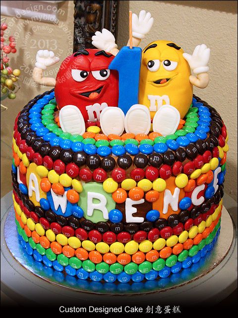 M  M Birthday Cake Cakes And Cupcakes For Kids Birthday Party - M and ms birthday cake