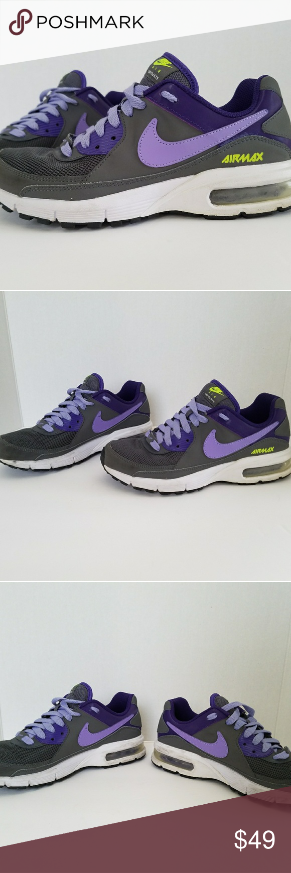 purchase cheap cfbf8 c8d0f NIKE Air Max Captivate Purple Gray Womens Sneakers