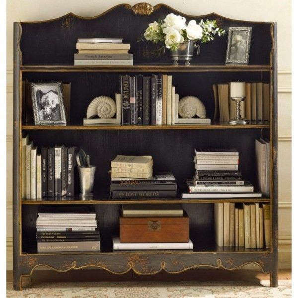 Mantel Bookcase - French Country - Pierre Deux found on Polyvore