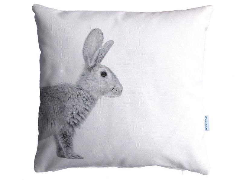 Kaninchenkissen 40x40cm Kissenhulle Baumwolle Kaninchen