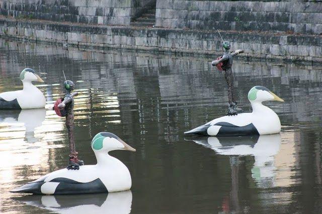 rollskating ducks