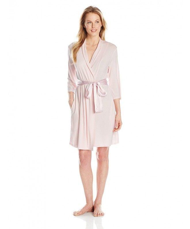 Women s Short Modal Robe - Pink - CO11UGDP3CX in 2019  c411bfa23