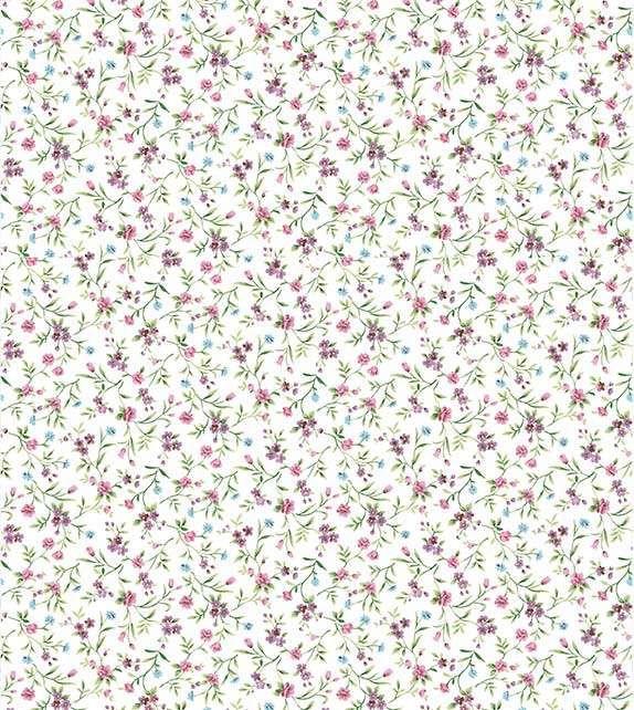 Papel De Parede Floral Com Fundo Branco E Pequenas Flores