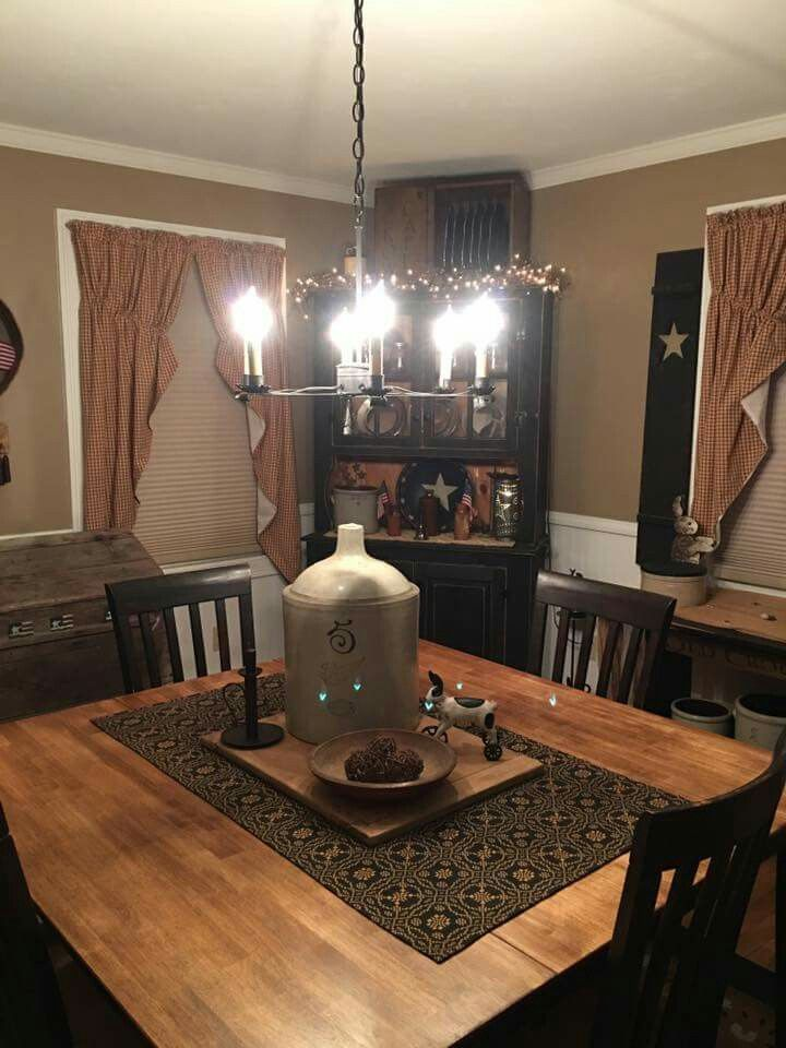 Pin By Charlene Otto On Pretty Primitive Vignettes2 Primitive Dining Room Beautiful Dining Rooms Dining Room Remodel