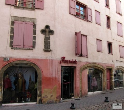 French Building dressed in Pink
