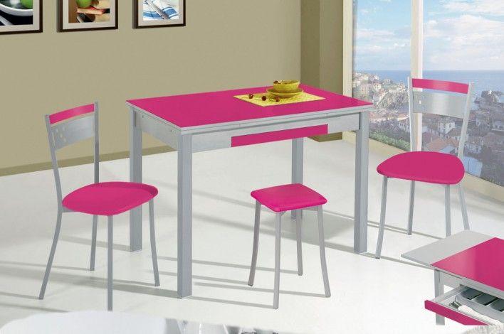 Se puede ser más completa? Mesa de cocina extensible y cajón ...
