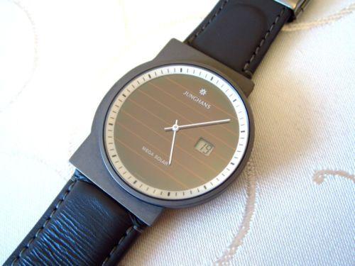 Junghans Mega Solar Titanium Funkuhr Funkuhren Uhren Junghans