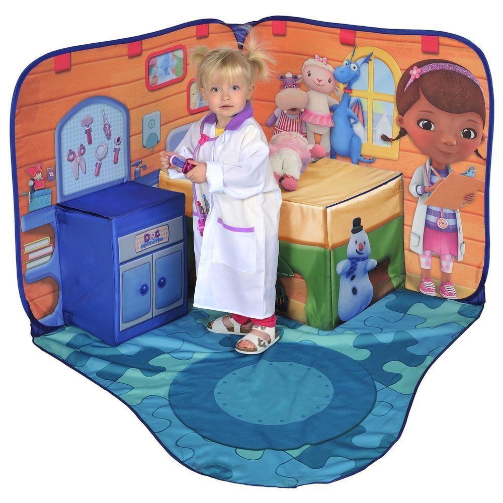 Doc mcstuffins toy hospital 3d pop up playscape tent