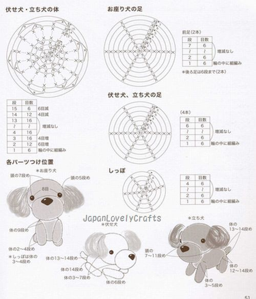 ami ami dogs 2 by mitsuki hoshi - japanese amigurumi crochet pattern book for dogs