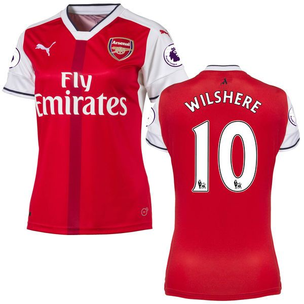 814a3917338 Jack Wilshere Arsenal Puma Women's 2016/17 Home Replica Patch Jersey - Red  - $78.74