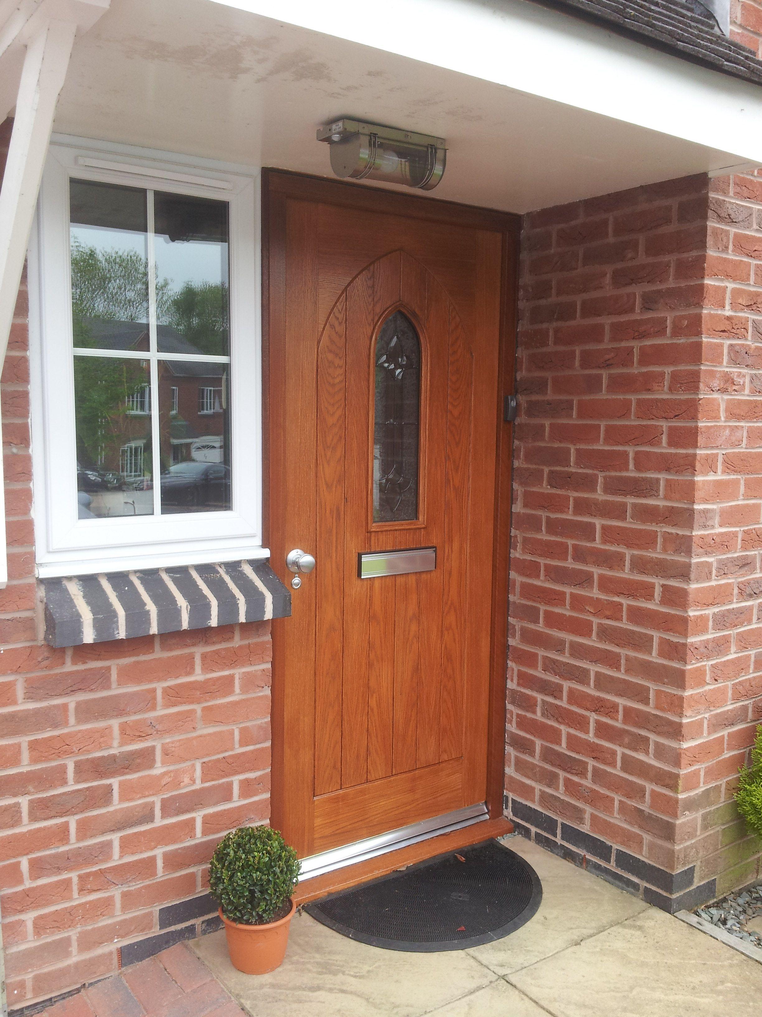 Oak Westminster Door Finished With Sikkens Light Oak Cetol 7 Staining Wood Outdoor Decor Light Oak