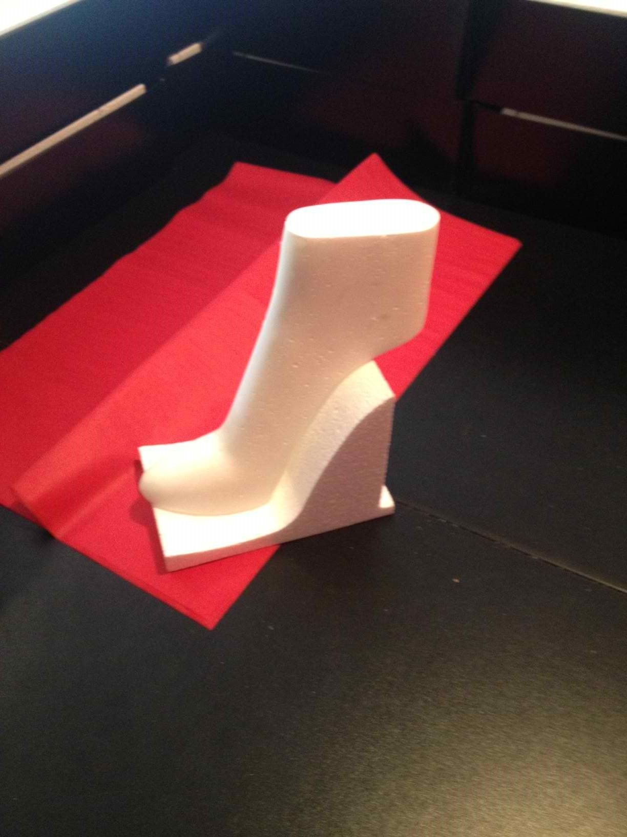 how to make a fondant shoe instructions