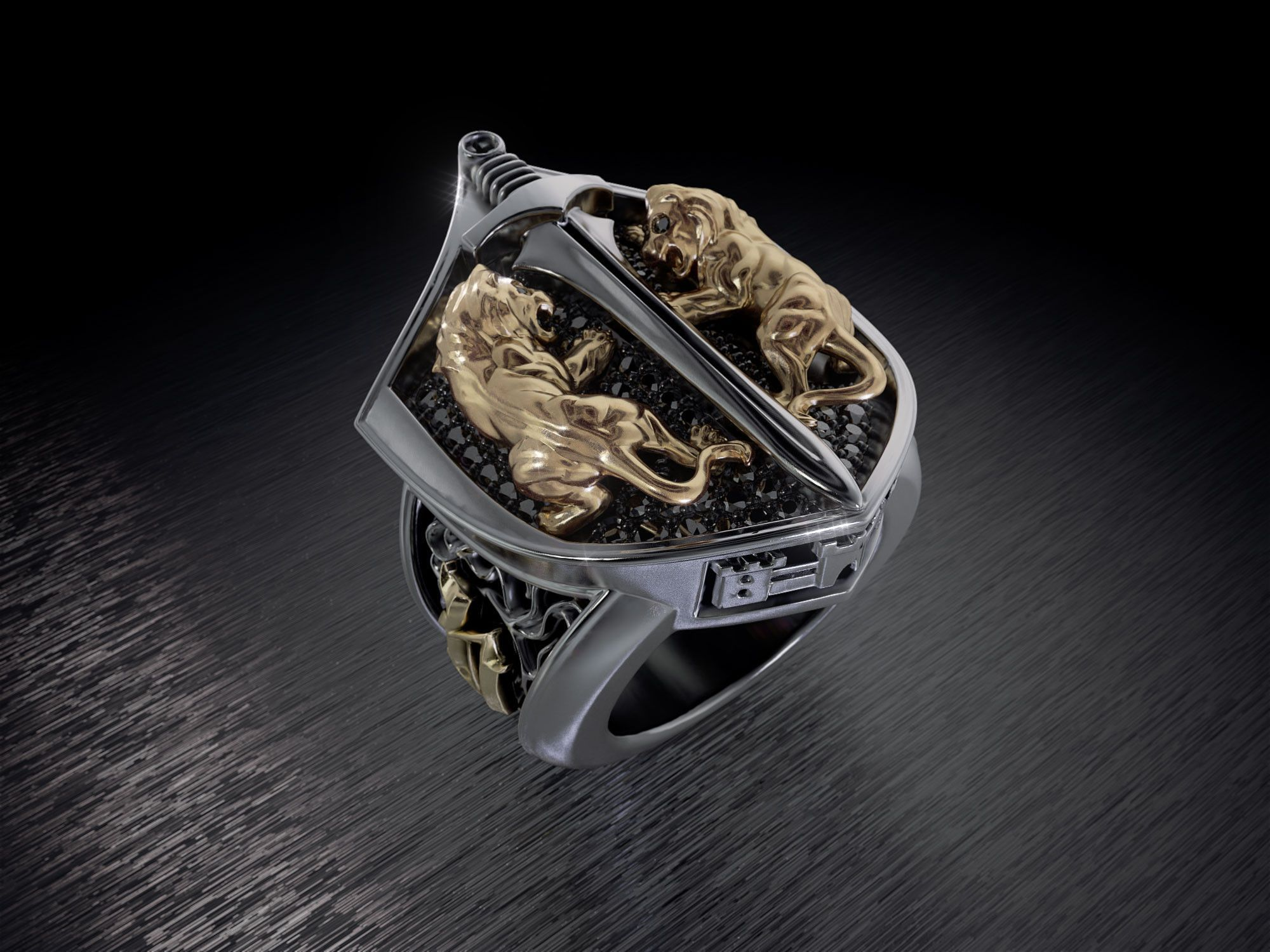 King's Crest in 2020 Cool rings for men, Unique mens