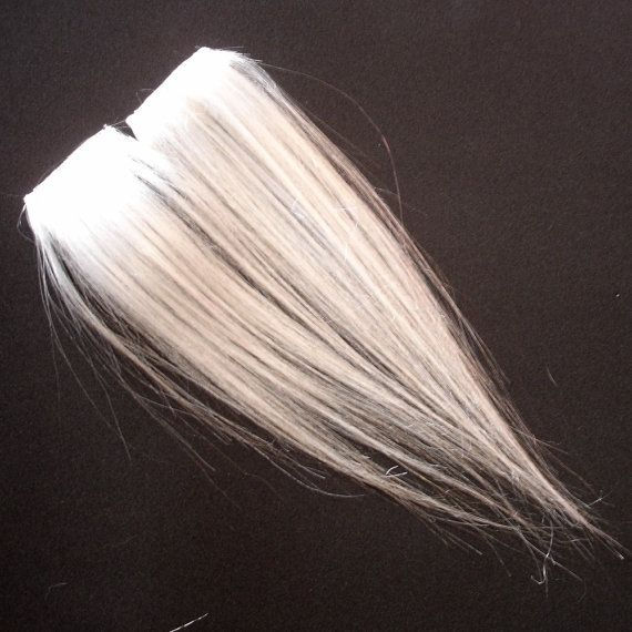White Clip In Hair Extensions Fake Hair Streaks Highlights Hair I