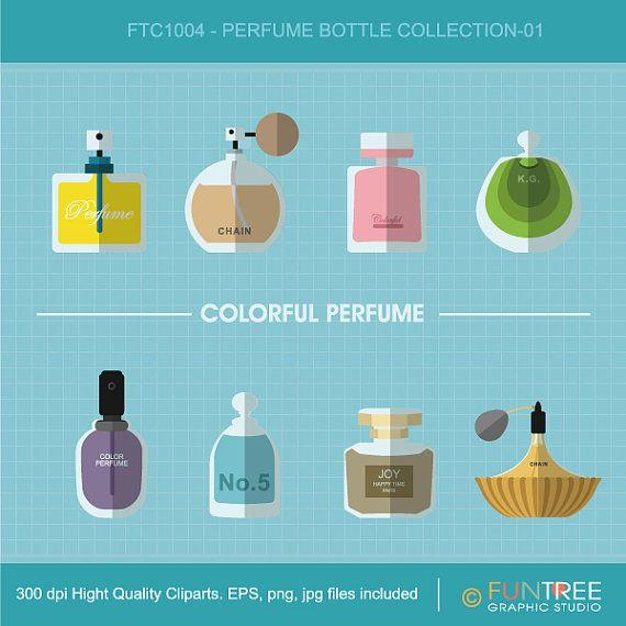 Perfume bottles Glass bottle Colorful Elegant by FuntreeDesign