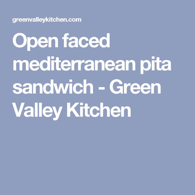 Open faced mediterranean pita sandwich   Rezept