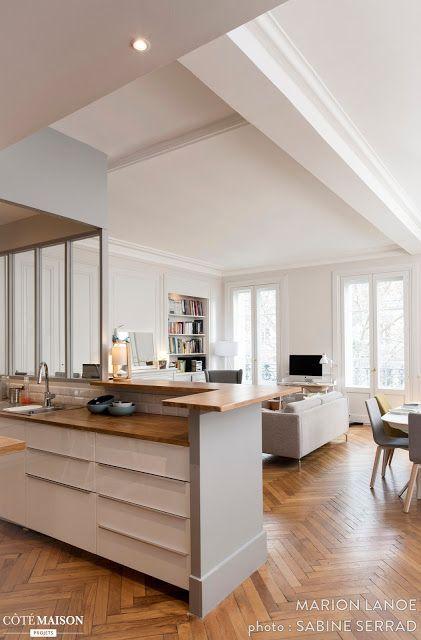 Stylowe Francuskie Mieszkanie W Starym Budownictwie 100m2 Interieur Keukens Keuken Ideeen
