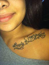 My collar bone tattoo   My collar bone tattoo