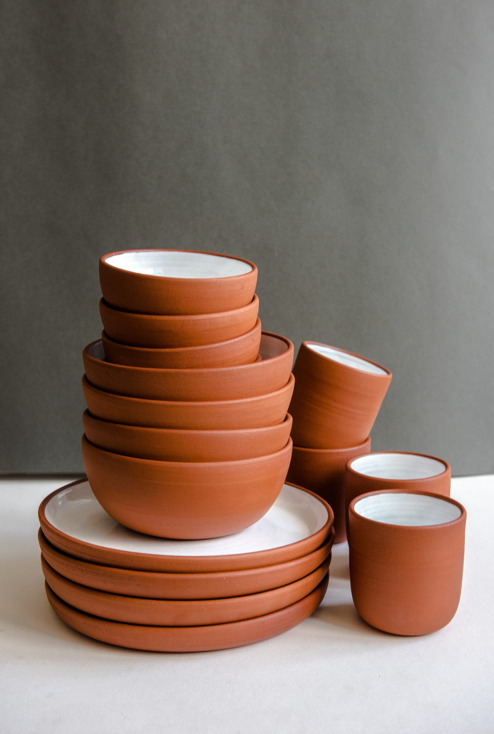 Terracotta Dinner Set In 2020 Handmade Tableware Ceramic Dinnerware Ceramic Dinnerware Set