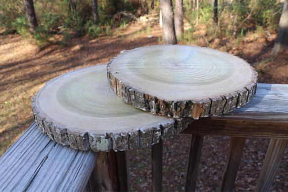 10 Inch Treated Wood Slice For Wedding Centerpieces
