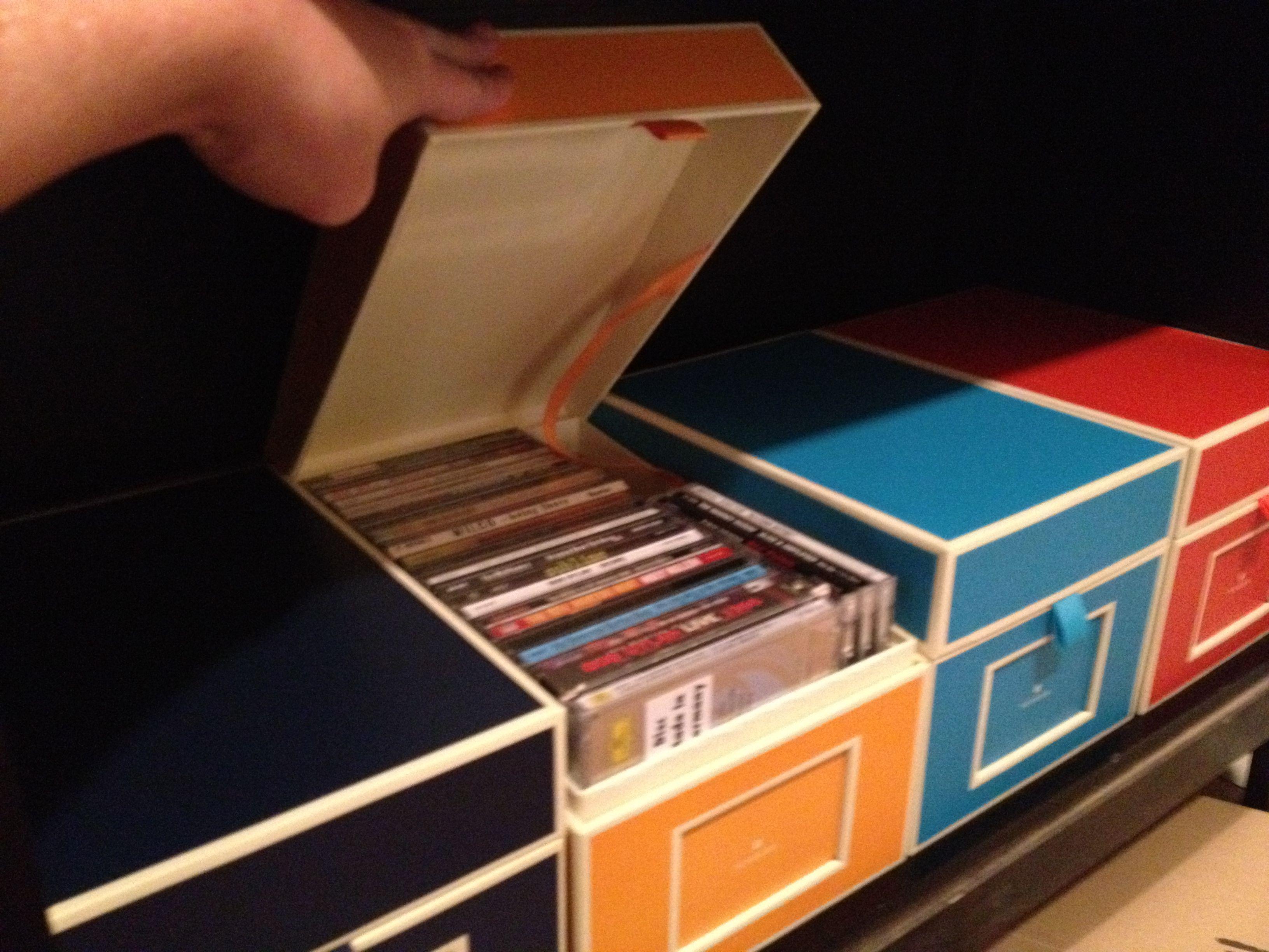 Vaultz Snap-N-Store CD Doublewide Storage Box Black