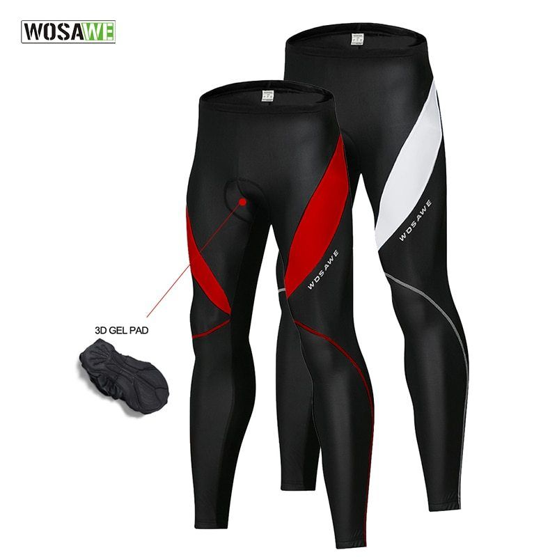 Mens Cycling Trouser Tights Thermal Long Pants Cold Wear Bike Padded Tights