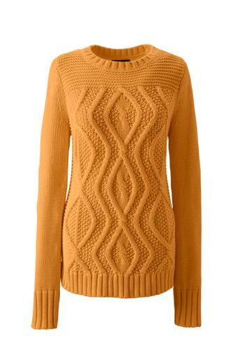 Lands' End Drifter Sweater in Squash Yellow | Dream Fall Wardrobe ...