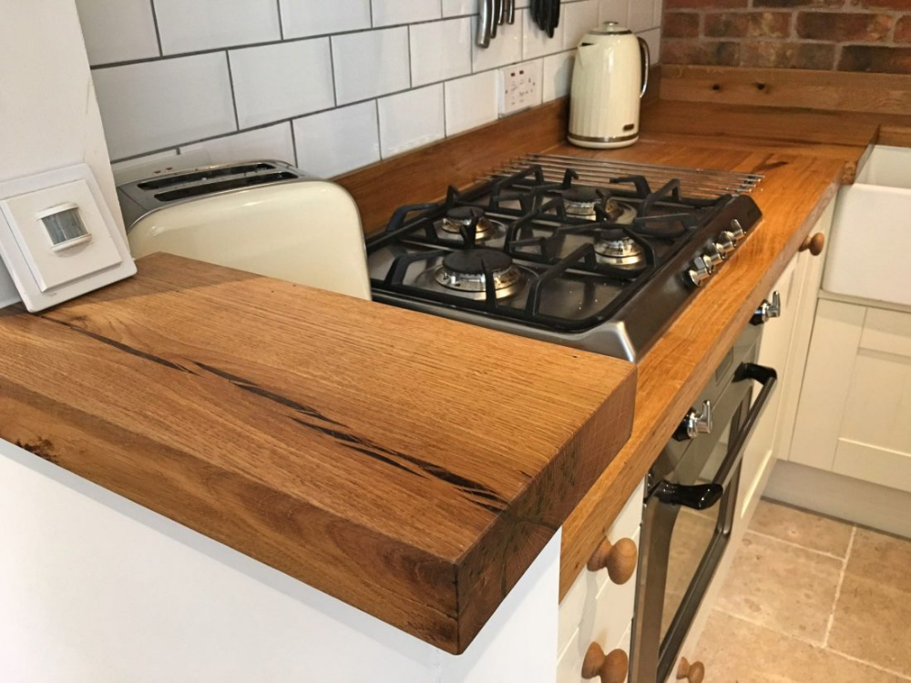 Rustic Oak Kitchen Worktops Timberdeal UK in 2020 Oak
