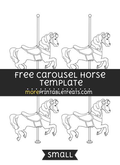 Free Carousel Horse Template Small Shapes And Templates Printables Birthday Parties