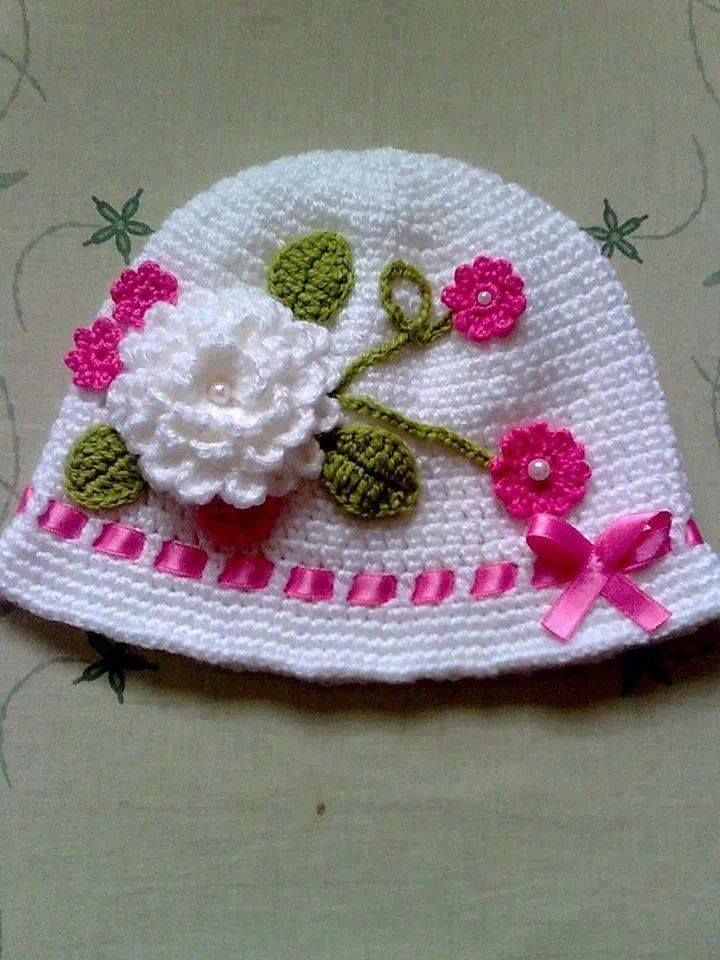 Beautiful hat for kids | BABY/Kids: boinas/chapéus/toucas... | Pinterest