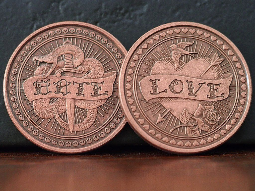 Oracle Solid Copper Coin EDC Coins Copper Challenge coins
