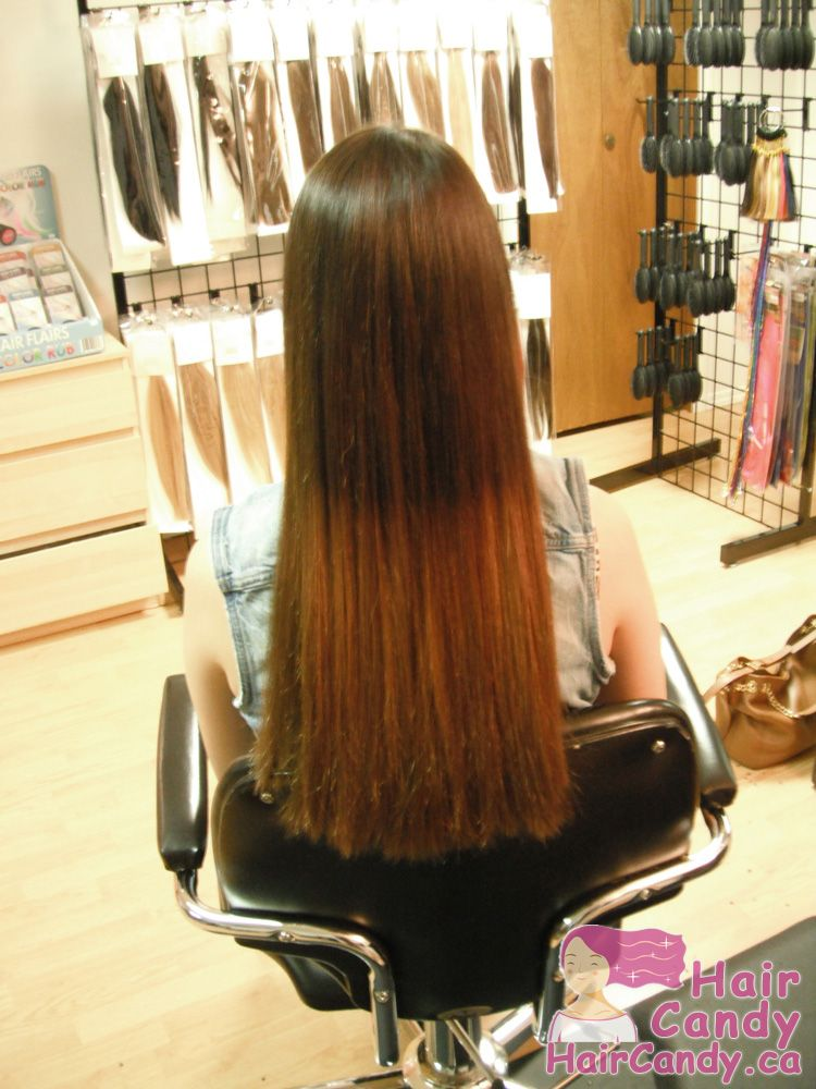 Set Of Remy Utip Fusion Hair Extensions For A Customer In Edmonton